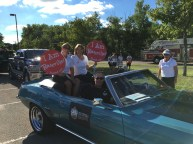 Mary and Leslie our Community Grand Marshal reps