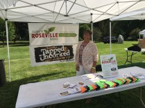 Mary at Taste of Rosefest promoting Tapped & Uncorked