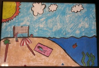 Mother's Beach by Jasmine De Baris, Silver Medal, Museum of Art, International Children's Art Contest