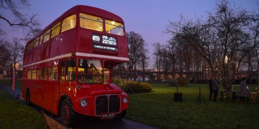 Friends of St Pauls Rec Brentford Carols in the Park Routemaster