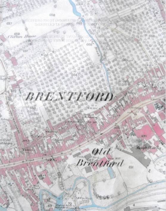 Historical Friends of St Pauls Rec Brentford Map Colour