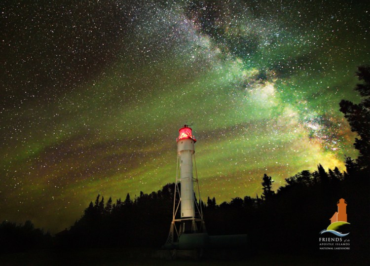 The Devils Island Lighthouse and Milky Way-Apostle Islands Print of the Year 2012