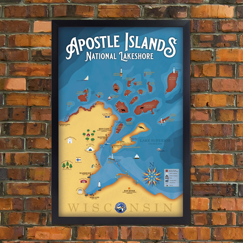 Apostle Islands Poster