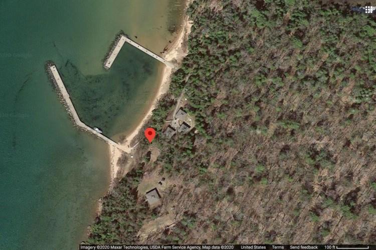Location of the amphitheater on Stockton Island (Courtsey Google Maps)