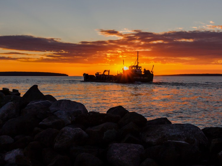 The LCT Outer Island departs Bayfield. Photo credit: Leonid Gurevich