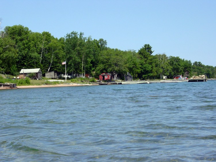 Fish camps from the water