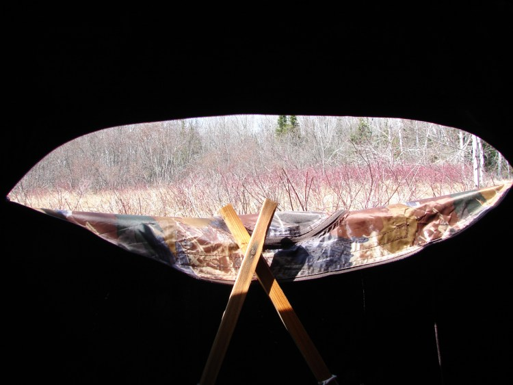View from a blind on Sand Island