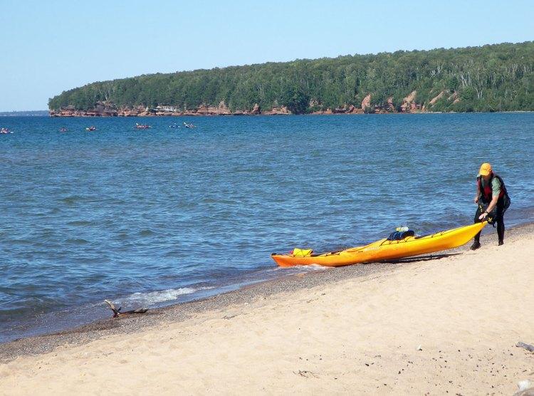 Sea kayaker at Meyers Beach