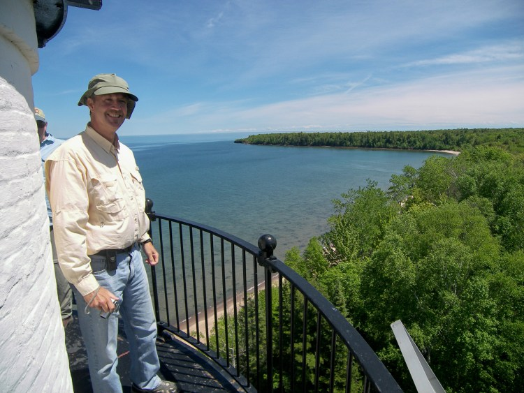 The view from the Outer Island light tower