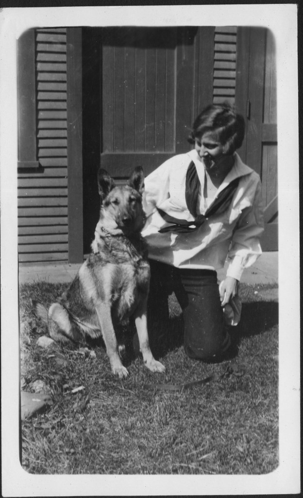 Gert and her dog Sandy