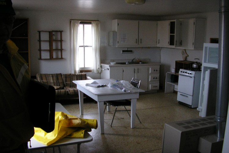 inside the ranger quarters located in the old barn at Raspberry Island Light Station