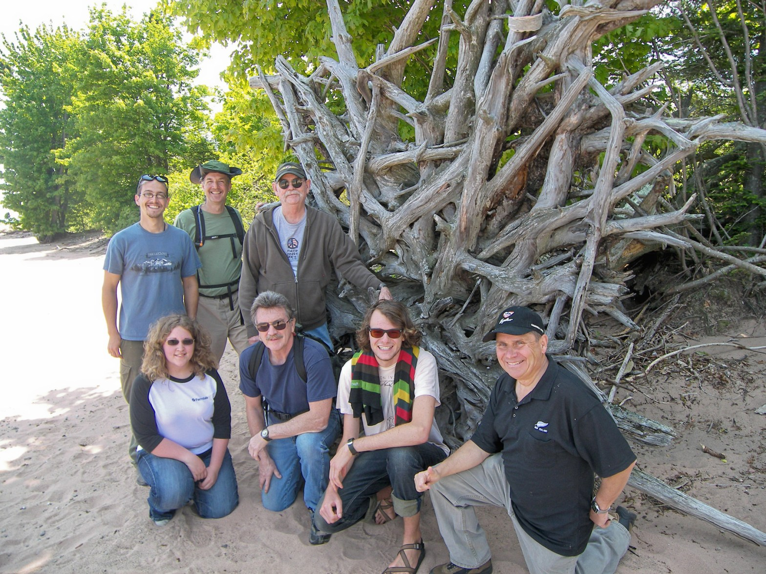 Stu Whipple (front row, second from the left) with the seasonal ranger crew at the Raspberry Island sandspit