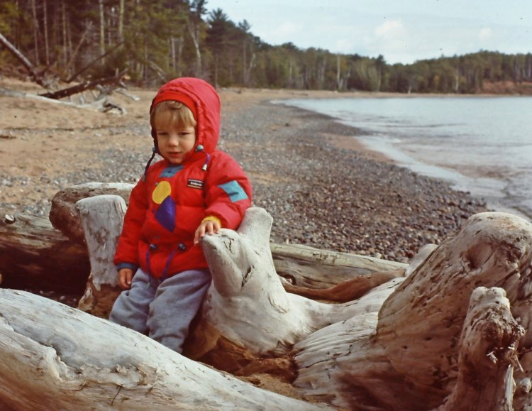 Forrest at age 2 on the Outer Island sandspit