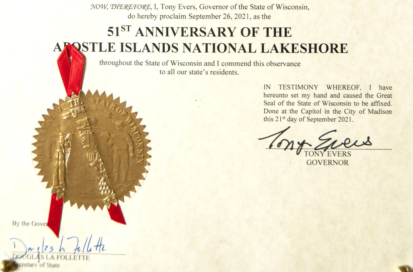 Governor's proclamation seal