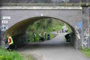 Volunteers at work near Errwood Road