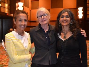 SARAH GISH PHOTO.Dina Alsowayel, Elizabeth Gregory, Sehba Sarwar