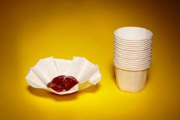 life hacks na cozinha Copinhos de Ketchup