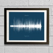 soundwave art song framed 2