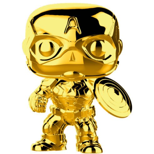 Funko POP! Marvel Studios 10 Capitan America Gold Chrome