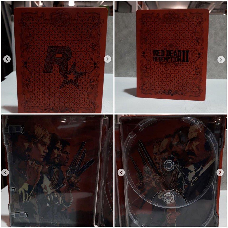 La versión Steelbook de Red Dead Redemption 2 tiene dos discos
