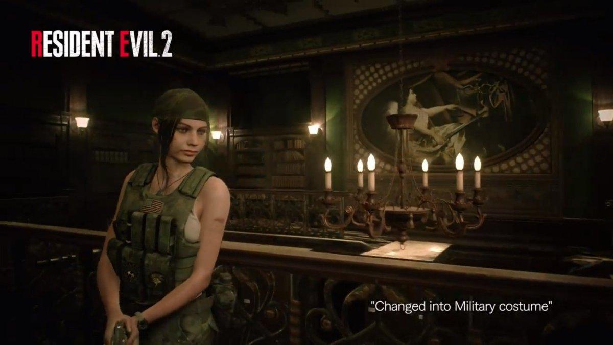 Mira a Claire Redfield vestida de militar en un DLC de Resident Evil 2 Remake