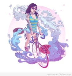 Pin-Ups-and-Bicycles-illustrations-by-Halfanese-4