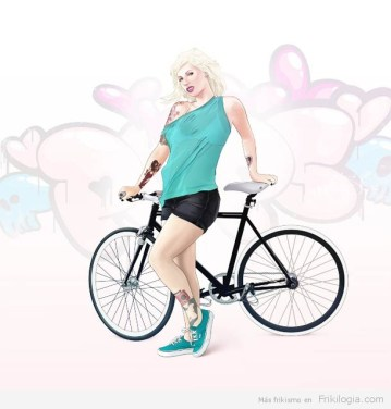 Pin-Ups-and-Bicycles-illustrations-by-Halfanese-7