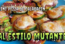 Receta keto Friki: Mini Pizza de Calabacín al estilo mutante