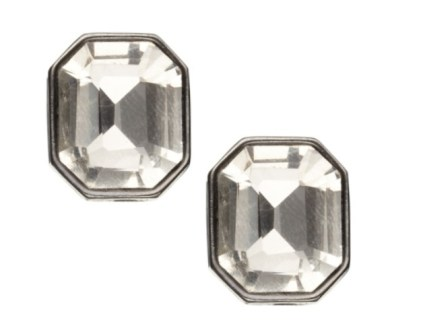 Simple jewel stud earrings - £6