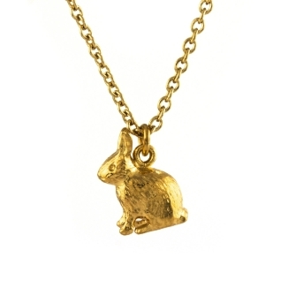 Alex Monroe Sitting Bunny Necklace - £120