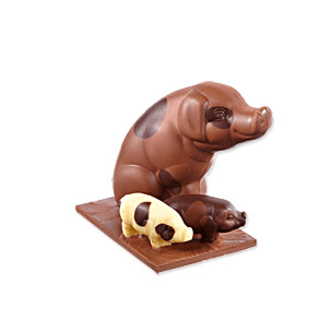 Bettys Chocolate Gloucester Old spot pigs