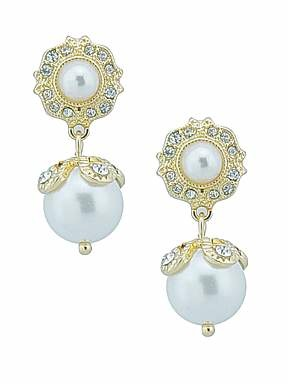 Ziba Bridal pearl drop earrings - £15