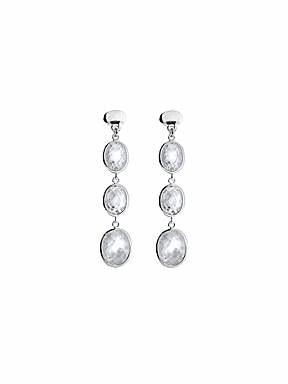 Azendi Sterling Silver Cubic Zirconia earrings