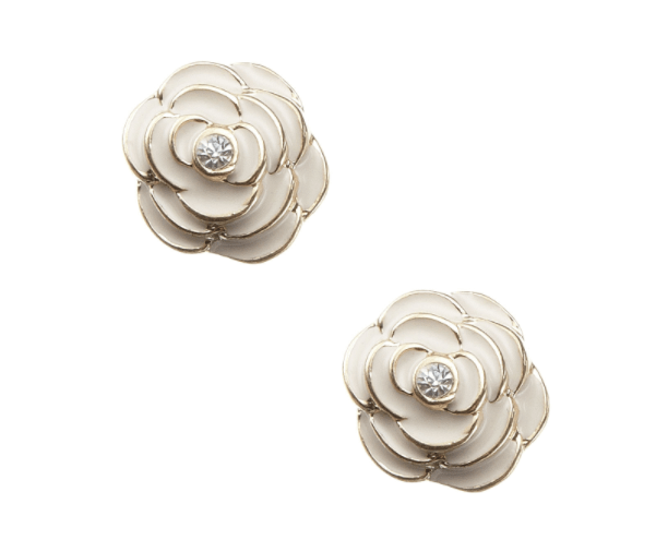 Pretty rose stud earrings - £4