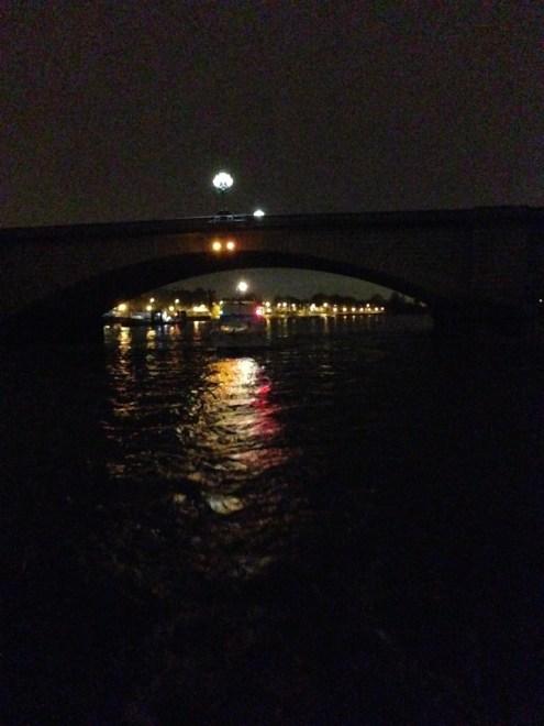 Passing under Putney Bridge.