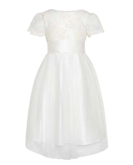 John Lewis floral lace flower girl dress