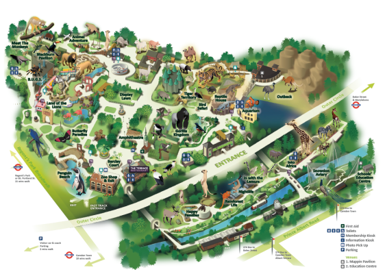 London Zoo Map