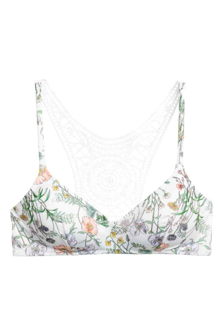 hm lace back bikini top non-wired