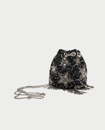 Zara stars beaded crossbody bag 2