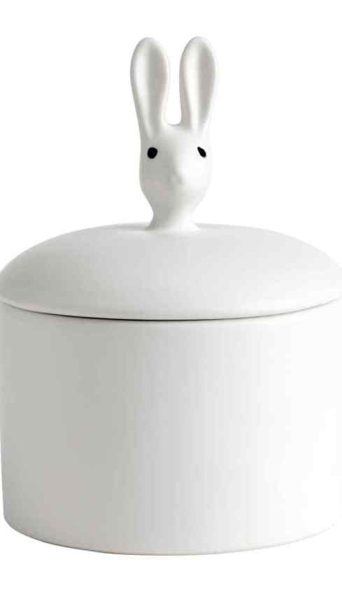 HM small stoneware rabbit pot