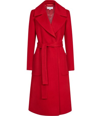 Reiss red coat
