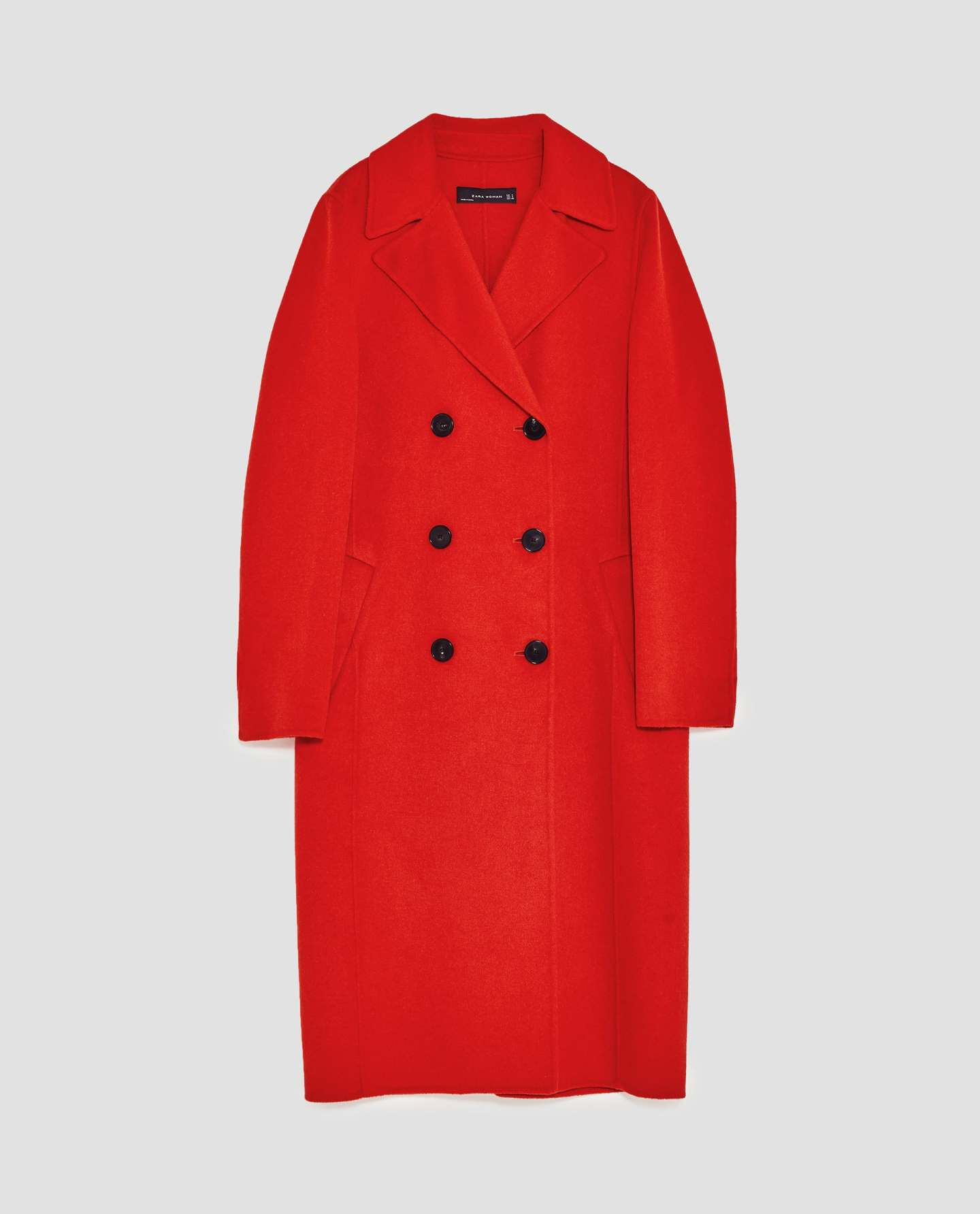 Zara red coat
