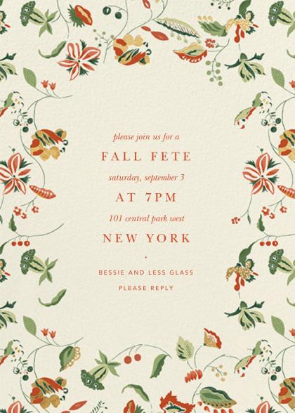 Paper Post Autumn invite