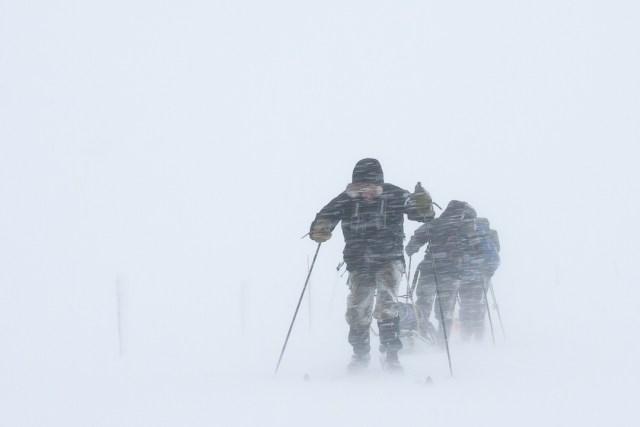 Skitur i snøvær