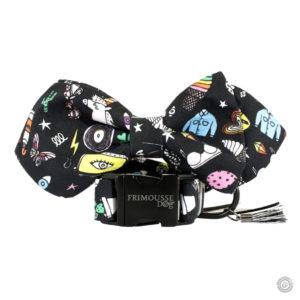 Ensemble collier pour chien réglable et son noeud papillon «Oxford»