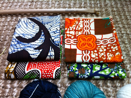 fat quarters of african mud cloth
