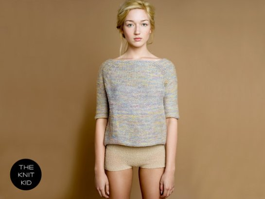 the knit kid pastel marl sweater