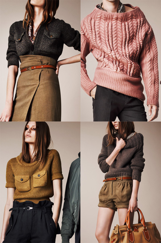 burberry prorsum resort 2013 knitwear