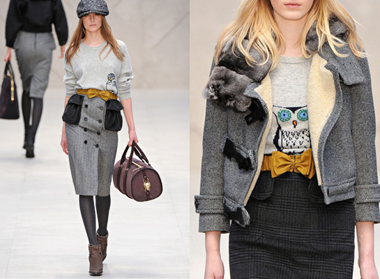 fall 2012 burberry prorsum sweaters