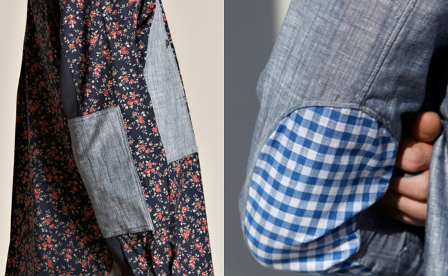 elbow patch shirts watanabe gingham